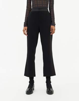 Stelen Women's Erelyn Contrast Fabric Trouser in Black, Size Small | Spandex