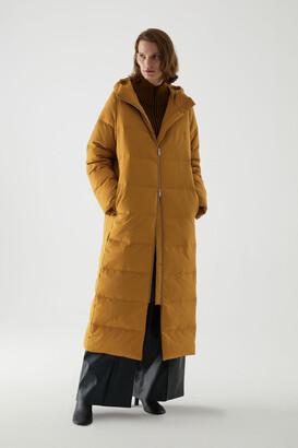 Cos Long Hooded Puffer Coat