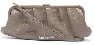 Balenciaga Cloud Xl Leather Cross-body Bag - Beige