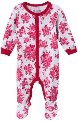 Coccoli Button Down Footie (Baby Girls)