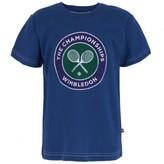Wimbledon Navy Crossed Rackets Tee