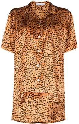 Olivia von Halle Emeli leopard-print silk pajamas