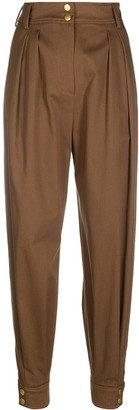 Alberta Ferretti Pleated Tapered Trousers