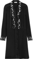 Paul & Joe Syvette Bead-embellished Silk-satin Mini Dress - Black