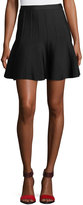 Herve Leger Sabine Flounce Knit Mini Skirt