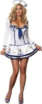Dreamgirl Women's Sexy Pin-Up Sailor Sea Captain Costume, Makin' Waves Sexy Sailor