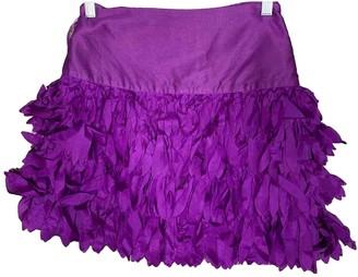 Reiss Purple Silk Skirt for Women