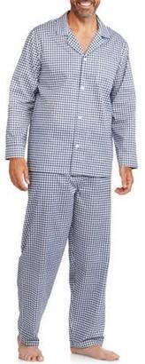 Fruit of the Loom Men's Long Sleeve, Long Pant Print Pajama Set