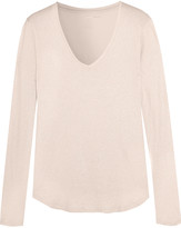 Majestic Metallic cotton, cashmere and silk-blend top