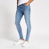 River Island Light blue Ollie spray on skinny jeans