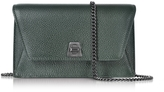 Akris Bottle Green Cervocalf Anouk Mini Envelope Bag
