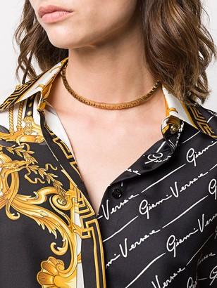 Versace Greca Key choker necklace - ShopStyle