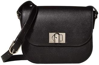 Furla 1927 Small Crossbody 23 (Nero) Handbags
