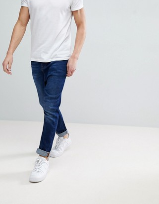 Asos Design ASOS Drop Crotch Jeans In Vintage Dark Wash With Tint