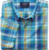 Charles Tyrwhitt Slim fit short sleeve green and blue check shirt