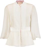 Roksanda Elcet crinkled silk-blend blouse