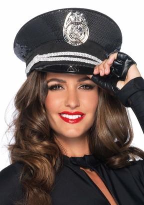 Leg Avenue Women's Sequin Cop Police Hat