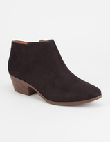 Soda Sunglasses Faux Suede Womens Booties
