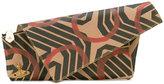 Vivienne Westwood geometric print asymmetric clutch - women - Leather/metal - One Size