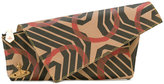 Vivienne Westwood geometric print asymmetric clutch