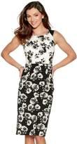 M&Co Floral print jacquard dress