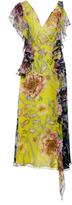 Prabal Gurung Rana Asymmetric Sleeveless Ruffle Dress