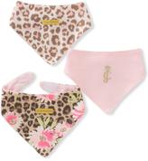 Juicy Couture Animal Print & Pink 'Juicy Couture' Bib Set - Infant