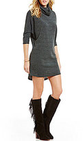 GB Cowlneck Sheath Sweater Dress