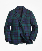 Brooks Brothers Two-Button Black Watch Wool Suit Jacket