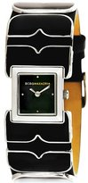 BCBGMAXAZRIA Women's BG6399 Mini Chroma Custom Smooth Leather Enamel Details Watch