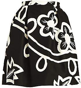 Carolina Herrera Women's Pleated Floral Poplin Skirt
