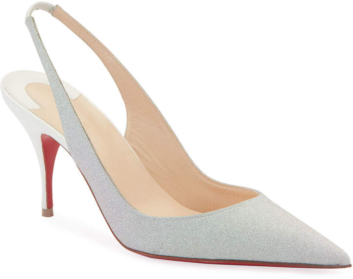 buy online c1f0d 46b18 Clare Glitter Red Sole Slingback Pumps