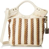 Frye Tricia Weave Shopper Cross Body Bag