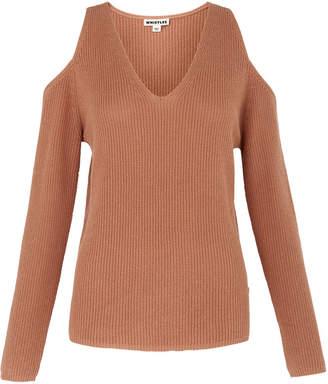 Whistles V Neck Cold Shoulder Sweater