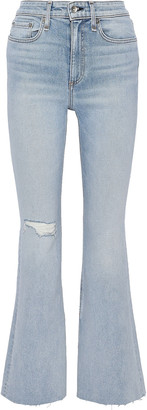 Rag & Bone Nina Distressed High-rise Flared Jeans
