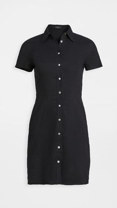 Theory Short Sleeve Button Down Dress