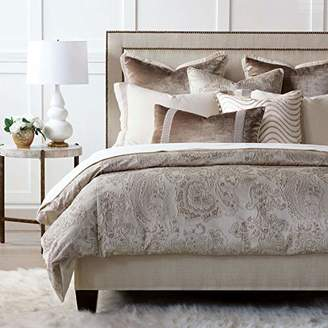 Helena Eastern Accents Luxury Taupe Glam Velvet Jacquard Metallic Queen