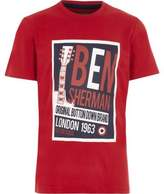 Ben Sherman Boys red retro music T-shirt