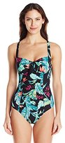 Seafolly Women's Jungle DD Underwire Maillot One Piece Swimsuit