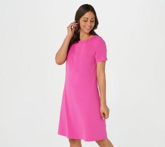 Denim & Co. Regular Essentials Jersey Bateau Neck Dress