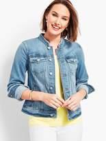 Talbots Frayed-Collar Stretch Denim Jacket