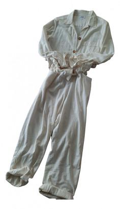 Polder Ecru Cotton Jumpsuits