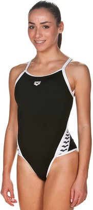 Arena Plus Size SuperFly Striped Training One-Piece Swimsuit