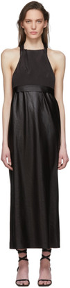 Tibi Black Celia Drape Bias Dress
