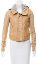 A.L.C. Leather Hooded Jacket