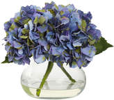 Asstd National Brand Nearly Natural Blooming Hydrangea With Vase