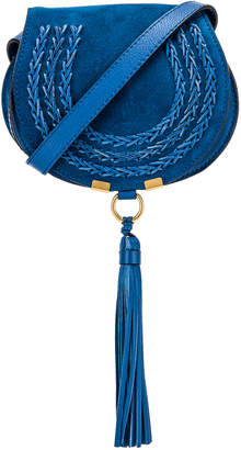 Chloé Small Leather Braid Marcie Satchel in Smoky Blue | FWRD