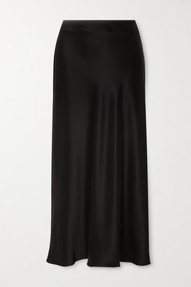 Matteau Satin Midi Skirt - Black