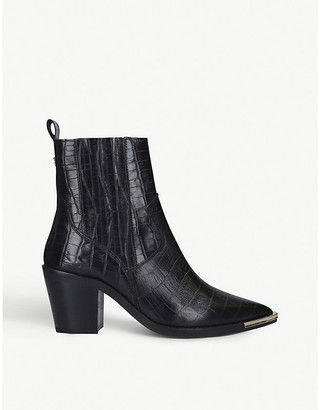 Kurt Geiger Tiami reptile-embossed leather Western boots