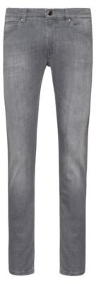 HUGO BOSS Skinny Fit Jeans In Lightweight Stretch Denim - Grey
